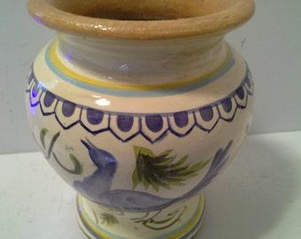 Sold Cute bird design pottery vase