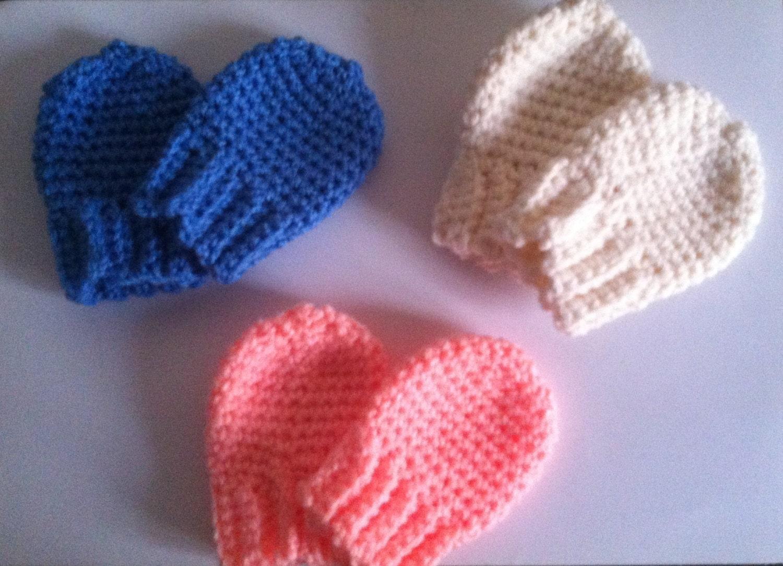 Baby mittens Newborn mittens Crochet Mittens Thumbless