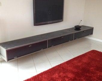 Low industrial aspect black steel Cabinet.