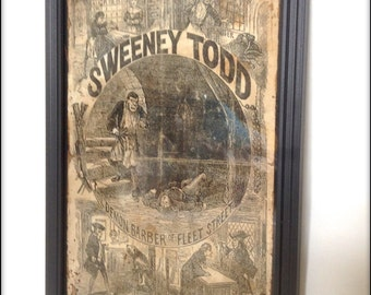 Penny Dreadful - Sweeney Todd Reproduction Cover in frame.