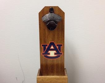 Auburn Tigers Wall Mounted Bottle Opener