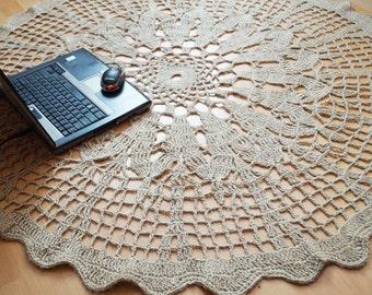Mat knitted - Nautical Decor - Bath Mat - 41in - decor - ECO - household