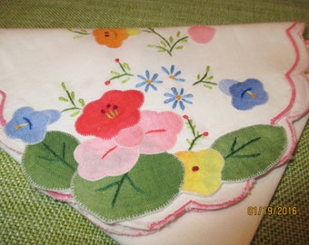 Vintage bread/muffin basket liner