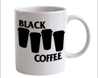 Black Coffee Black Flag Punk Coffee Mug