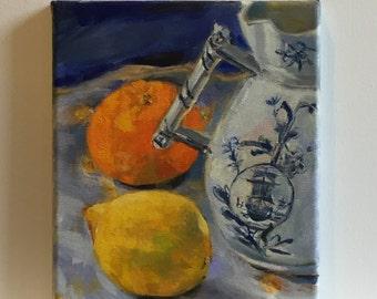 Still Life with Orange and Lemon