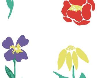 Hand Painted Floral Clip Art