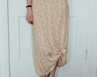 Vintage Pale Yellow ANKLE LENGTH SKIRT