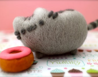 Needle Felted Pusheen The Cat, Needle Felted Cat, Pusheen The Cat