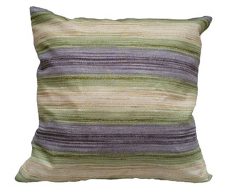 1 Pillow cover - Purple Green Yellow stripes