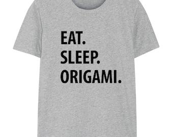 Origami T-Shirt, Eat Sleep Origami shirt Mens Womens Gifts - 1213