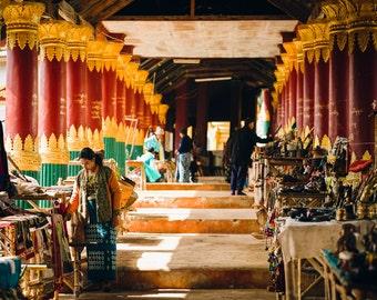 Indein Village Market travel photography print