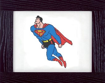 Superman Counted Cross Stitch Pattern - PDF - Instant Download