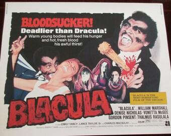 Blacula Movie Poster 24x32in Blaxploitation