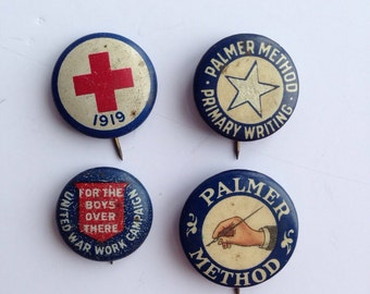 WWI and WWII Era Pins  Lot of 4