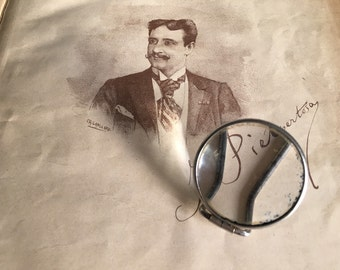 Old small magnifying glass.