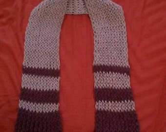 Purple Loom-knit Scarf