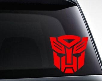 Transformers autobot logo die cut vinyl decal sticker for car, laptop, yeti decal, etc.