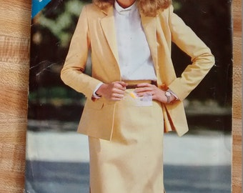 Butterick See & Sew 3020 Uncut Pattern Misses Jacket and Pencil Skirt Suit Size A 8-10-12