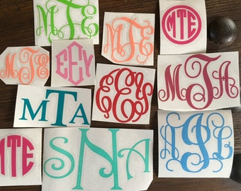 Monogram Vinyl Decal