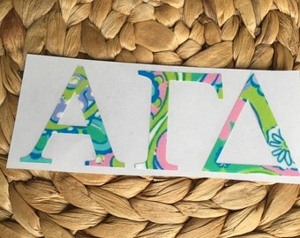 Lilly Pulitzer Greek Decal