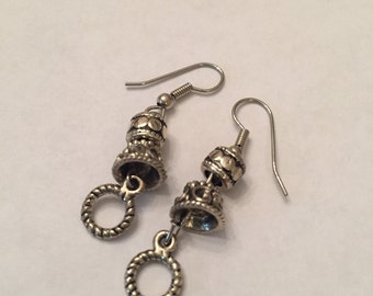 Oxidized Metal Earrings