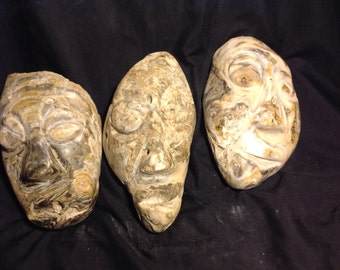 Carved Fossil Oyster Shells