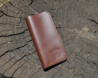 handstitch long leather wallet leather wallet credit card wallet  leather wallets