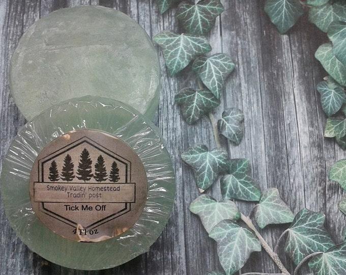 Tick Me Off™  , Lemon Eucalyptus and Cedarwood Essential Oil Glycerin Soap