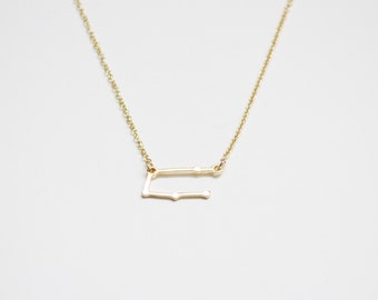 Gemini, the Twins Constellation Necklace