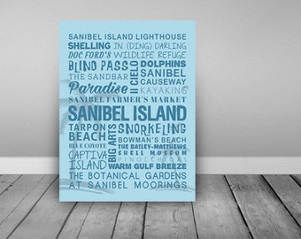 Sanibel Island Florida Themed Canvas