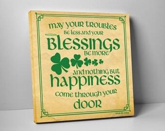 Irish Blessing Canvas