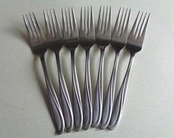 Epic Generation silverware Vintage Stainless Flatware 7 Salad Forks