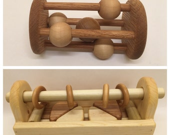 Wooden Rattle and Block Set
