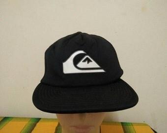 Rare Vintage QUICKSILVER Big Logo Cap Hat Free size fit all