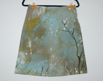 Size 10 Blue Branches ALine Skirt