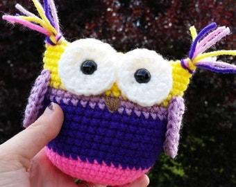 Crochet Owl / Plush Owl / Crochet Toy / Baby Owl