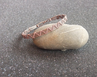 Wire wrapped copper bracelet,wire wrapped bracelet,copper bracelet,copper jewelry,bracelet,wrap bracelet,wire bracelet,woven bracelet,woven