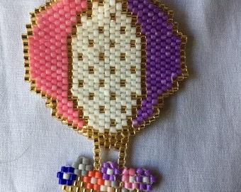Miyuki Brooch, Balloon Brooch, Funny Brooch, Coloured Miyuki Beadwork
