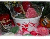 Valentine Candle Gift Basket-Floral