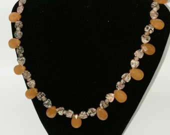 Leopard Jasper and Carnelian Necklace