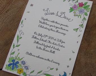 Wild flower Wedding Invitation