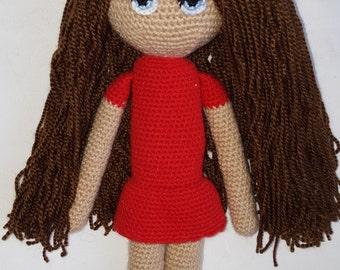 Nana the crocheted amigurumi doll