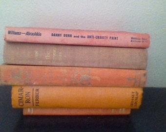 Vintage Book Collection (Oranges-Reds)