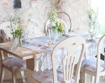 Dining Chairs ~ Set Of Four Hand Painted Shabby Chic Upholstered Chairs Kitchen Chairs SOURCED TO ORDER