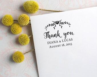 Speichern Sie, Termine, benutzerdefinierten Stempel, Stempel Hochzeit danke Stempel - Kalligraphie Stempel Typ 26