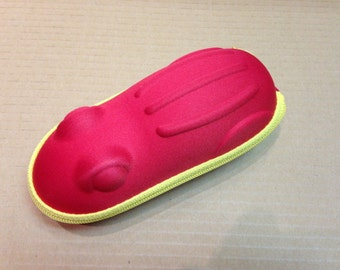 Childrens Kids Zip Up Glasses Spectacle Case Red Frog shape