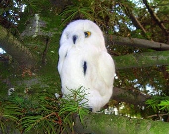 Owl /Snowy Owl/Neadle  Felted Animal
