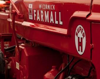 Super H Farmall Tractor 8x10 Photo