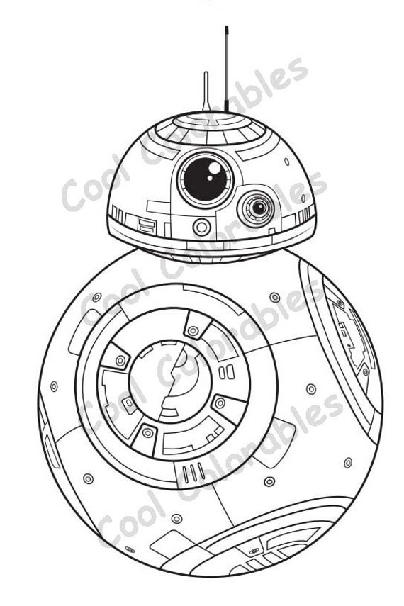 Coloring Pages Bb 8 : Star Wars Bb8 Robot Coloring Coloring Pages