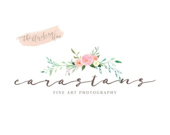 Business Logo, Floral Logo, Photography Logo, Premade Logo, Watercolor Flower Logo, Modern Logo